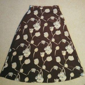 Flowing Floral Skirt  Sz M